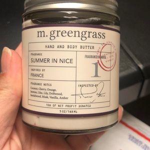 M.greengrass hand & body butter summer in nice